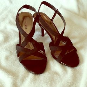 predictions black criss cross heels